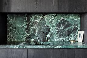 创意绿色大理石洗手台意向