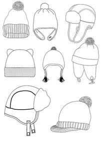 冬天儿童帽子款式图