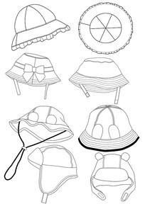 服饰帽子设计款式图