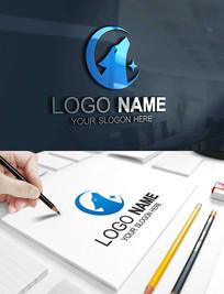 狼LOGO科技IT新能源标志