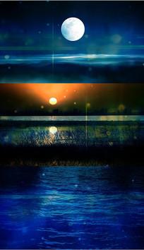 民乐水中月亮舞台背景视频 mov