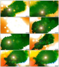 泼墨绿背抠像视频素材