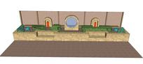 水景方案雕塑SU模型