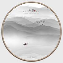 新中式韵墨山水装饰画