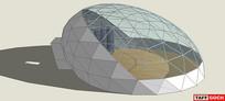 圆屋顶温室花园SU模型