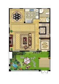 别墅户型图平面彩图