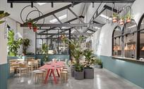 创意植物元素餐厅意向