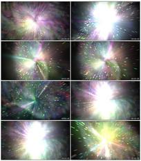 放射动感粒子舞台背景视频