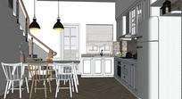 复式厨房餐厅