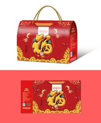 福字礼盒包装盒设计PSD