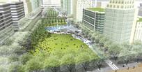 广场景观鸟瞰图 JPG