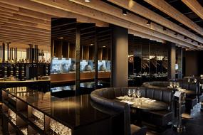 国外鱼元素中式餐厅沙发座