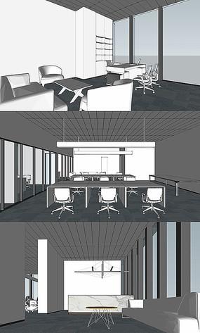 简易办公室模型