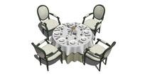 酒宴圆桌椅组合