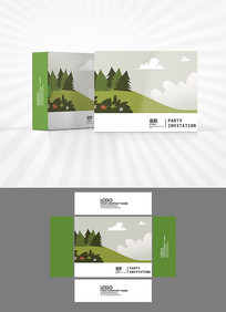 卡通风景包装盒设计