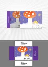 卡通蘑菇包装设计