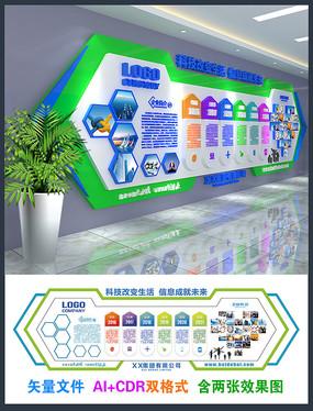 企业风采文化创意形象墙