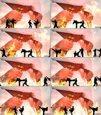 跆拳道表演LED视频背景