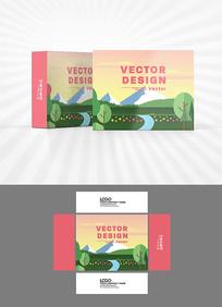 森林大山包装盒设计