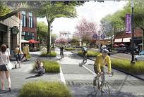 商业街道景观 JPG