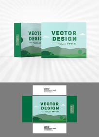 田野风光包装盒设计