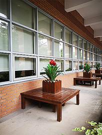 休闲座椅花箱景观 JPG