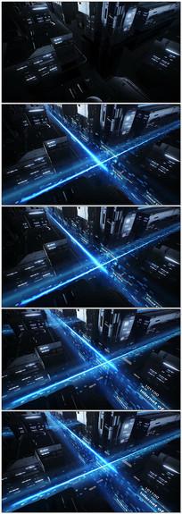 虚拟城市数据光线传输视频
