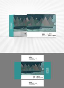 夜晚森林包装盒设计