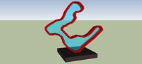 抽象图形雕塑SU模型