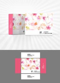 粉色花瓣包装盒设计