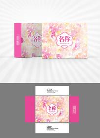 粉色水彩背景包装设计