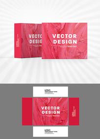 粉色诱惑包装盒设计AI