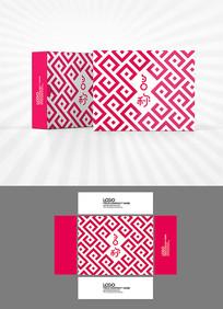 古典背景包装盒设计AI矢量
