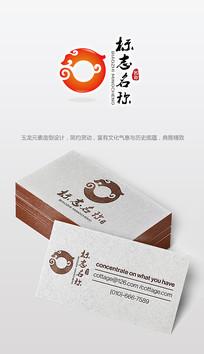 古典中国风玉龙logo设计