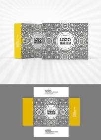 黑白花纹包装盒设计