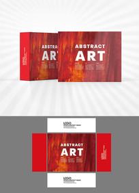 红色背景包装盒设计