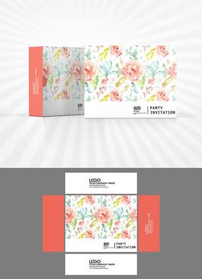 花朵背景包装盒设计