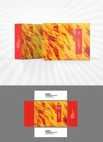 火焰油彩包装盒设计