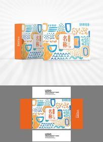 可爱卡通包装盒设计