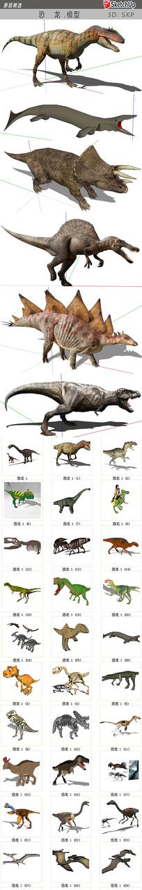 恐龙模型 skp