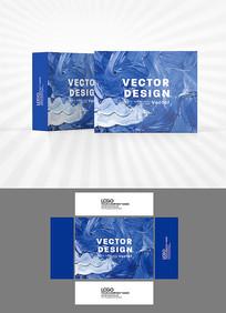 蓝色色彩涂抹包装设计