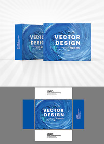 蓝色漩涡包装盒设计