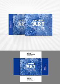 蓝色颜料涂抹包装设计