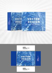 蓝色油彩包装设计