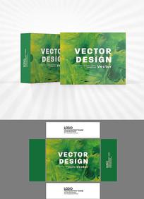 绿色油画背景包装设计