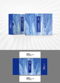 梦幻蓝色背景包装盒设计