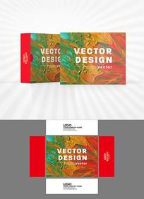 色彩涂抹包装盒设计