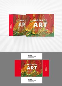 色彩涂抹背景包装设计