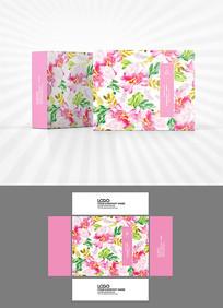 森系粉色花朵背景包装设计
