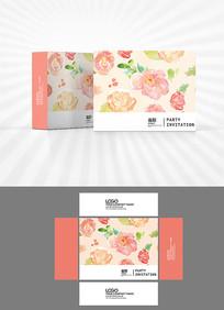 森系花朵背景包装设计